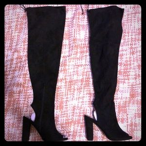 Black Over the Knee Thigh High boots